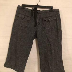 BeBop Women's Gray Bermuda  Shorts Size 11